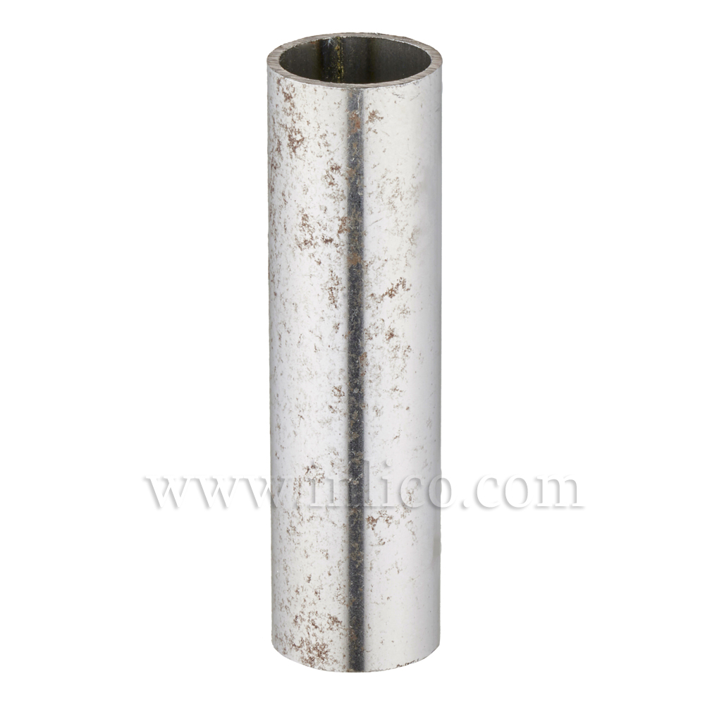 RAW STEEL SPACER 50MM LONG 10mm CLEAR BORE TO FIT OVER M10x1 ALLTHREAD