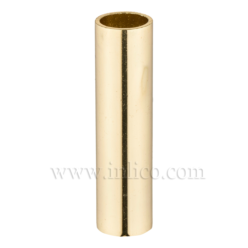 RAW BRASS SPACER 70MM LONG 10mm CLEAR BORE TO FIT OVER M10x1 ALLTHREAD