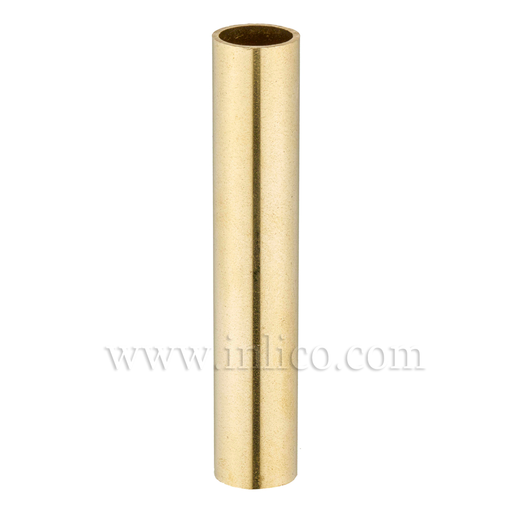 RAW BRASS SPACER 75MM LONG 10mm CLEAR BORE TO FIT OVER M10x1 ALLTHREAD